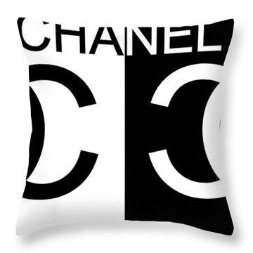 Black And White Chanel Throw Pillow