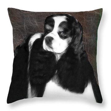 Throw Pillow featuring the photograph Black And White Cookie by EricaMaxine  Price
