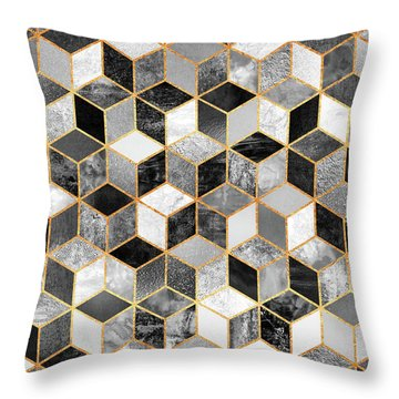 Black And White Cubes Throw Pillow