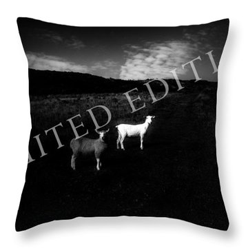 Black And White Throw Pillow by Dorit Fuhg