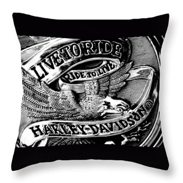 Black And White Emblem Throw Pillow