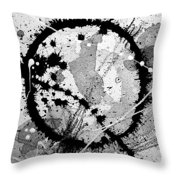 Black And White Five Throw Pillow