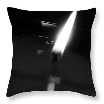 Black And White Flame Throw Pillow