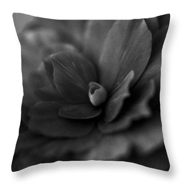 Throw Pillow featuring the photograph Black And White Flower Fifty by Kevin Blackburn