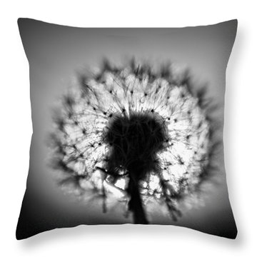 Throw Pillow featuring the photograph Black And White Flower Ten by Kevin Blackburn