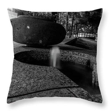 Black And White Fountain Throw Pillow