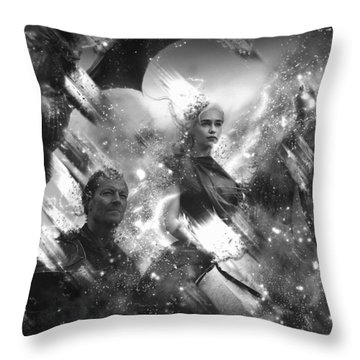 Black And White Games Of Thrones Another Story Throw Pillow