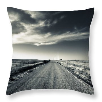 Black And White Gravel Throw Pillow