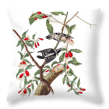 Throw Pillow featuring the photograph Black And White by Munir Alawi