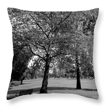 Black And White Nature Throw Pillow