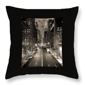 Black And White New York Throw Pillow