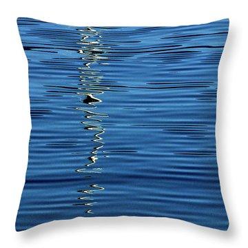 Black And White On Blue Throw Pillow