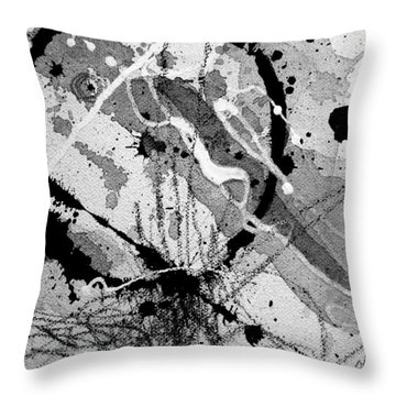 Black And White One Throw Pillow