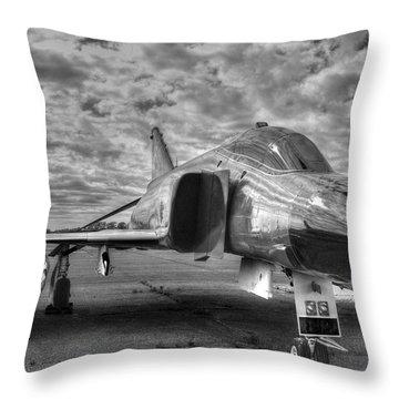 Black And White Phantom Throw Pillow