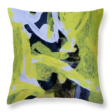 Black And White Plus Yellow Throw Pillow
