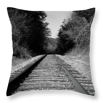 Black And White Railroad Throw Pillow