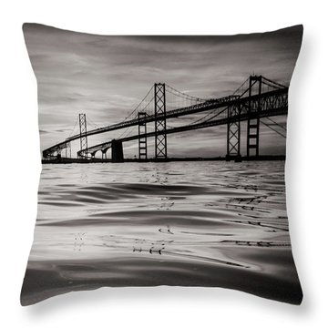 Black And White Reflections 2 Throw Pillow by Jennifer Casey