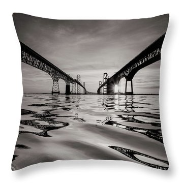 Black And White Reflections Throw Pillow by Jennifer Casey