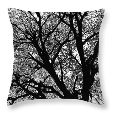 Black And White Throw Pillow by Renie Rutten