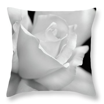 Throw Pillow featuring the photograph Black And White Rose Flower by Jennie Marie Schell