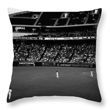 Black And White Royals Outfield Throw Pillow