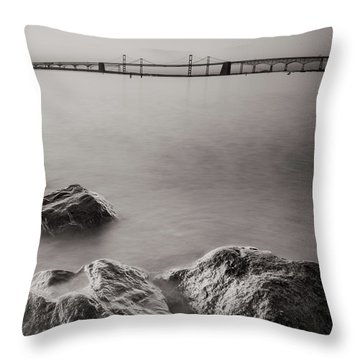 Black And White Sandy Point Throw Pillow by Jennifer Casey