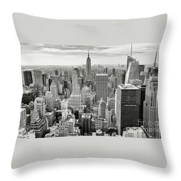 Throw Pillow featuring the photograph Black And White Skyline by MGL Meiklejohn Graphics Licensing