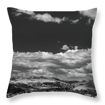 Black And White Small Town  Throw Pillow