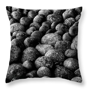 Throw Pillow featuring the photograph Black And White Stones Two by Kevin Blackburn
