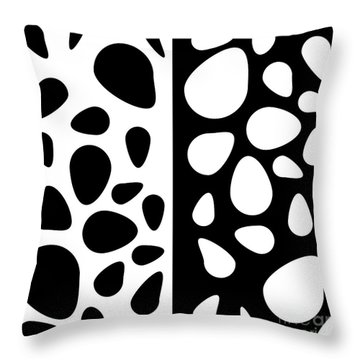 Black And White Teardrops Throw Pillow