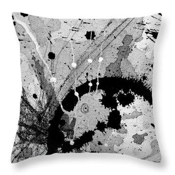 Black And White Three Throw Pillow
