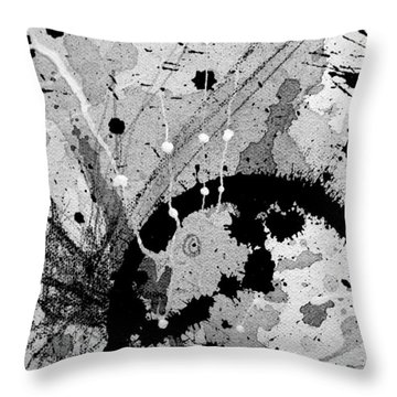 Black And White Three Throw Pillow