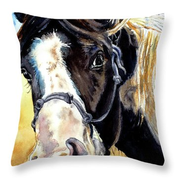Black And White Throw Pillow by Tracy Rose Moyers