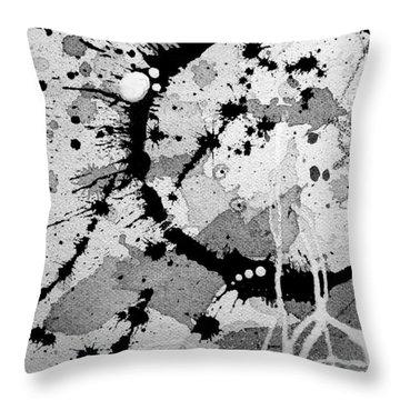 Black And White Two Throw Pillow