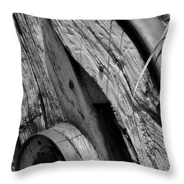 Black And White Wagon Wheel 1 Throw Pillow