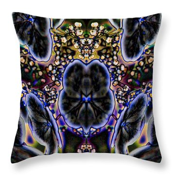 Black Angel Throw Pillow