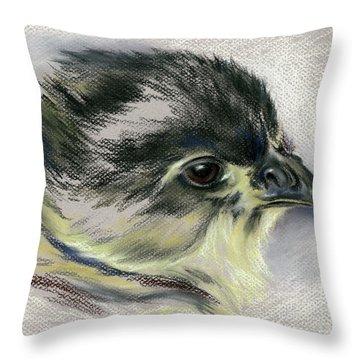 Black Australorp Chick Portrait Throw Pillow