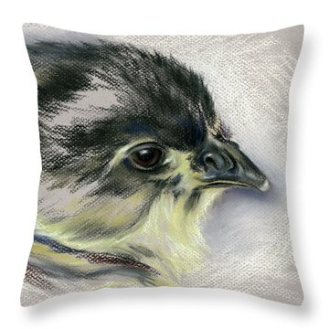 Black Australorp Chick Portrait Throw Pillow by MM Anderson
