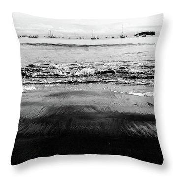 Black Beach  Throw Pillow