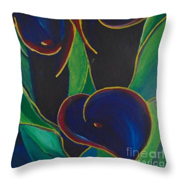 Throw Pillow featuring the painting Black Beauty by Saundra Johnson