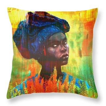 Black Beauty Throw Pillow by Vannetta Ferguson