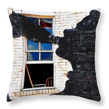 Black Betty Throw Pillow by Skip Hunt