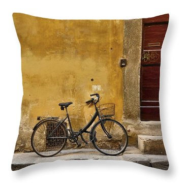 Black Bike Throw Pillow