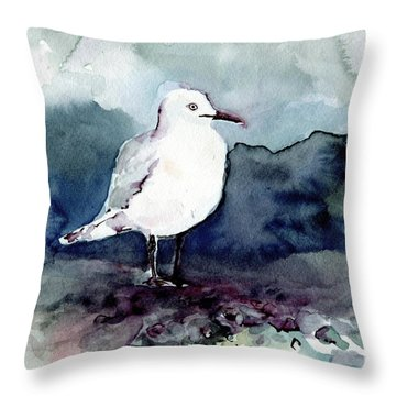 Black-billed Gull Throw Pillow
