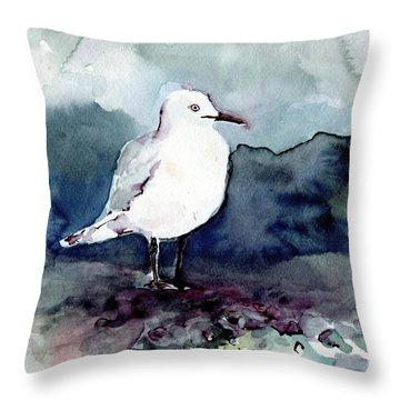 Black-billed Gull Throw Pillow