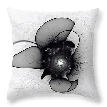 Black Bloom Throw Pillow