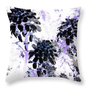 Black Blooms I I Throw Pillow