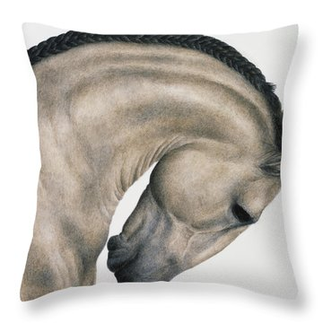 Black Braid Throw Pillow