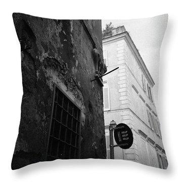 Black Building, White Building Throw Pillow