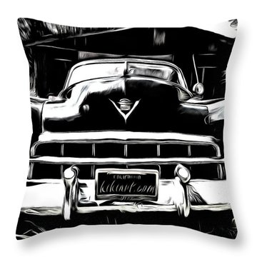 Black Cadillac Throw Pillow